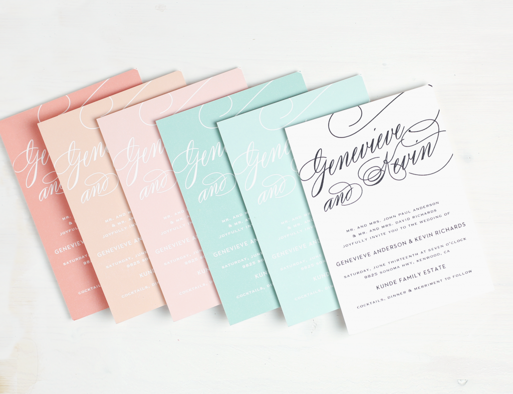 Basic invite Wedding invitation Phoenix Arizona
